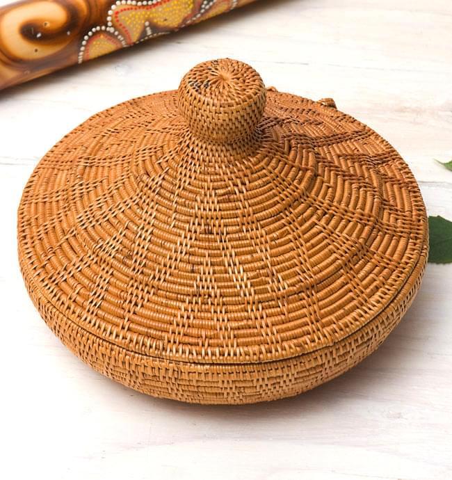 トゥガナン村のアタ タジン鍋型小物入れ 【23cm】の写真