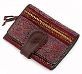 [高品質・一品物]モン族 - 牛革の折りたたみ財布