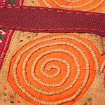 【一点物】モン族 細かいうずまき刺繍のポーチ