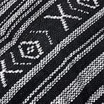 エスノ刺繍のショルダーバッグ - 白黒