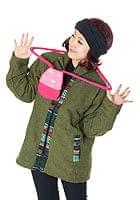フェルトのきのこちゃんスライドバッグ 【ピンク×ピンク】