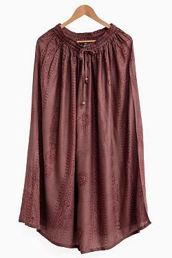ラムナミフレアースカート 13 - 選択8:チョコブラウン
