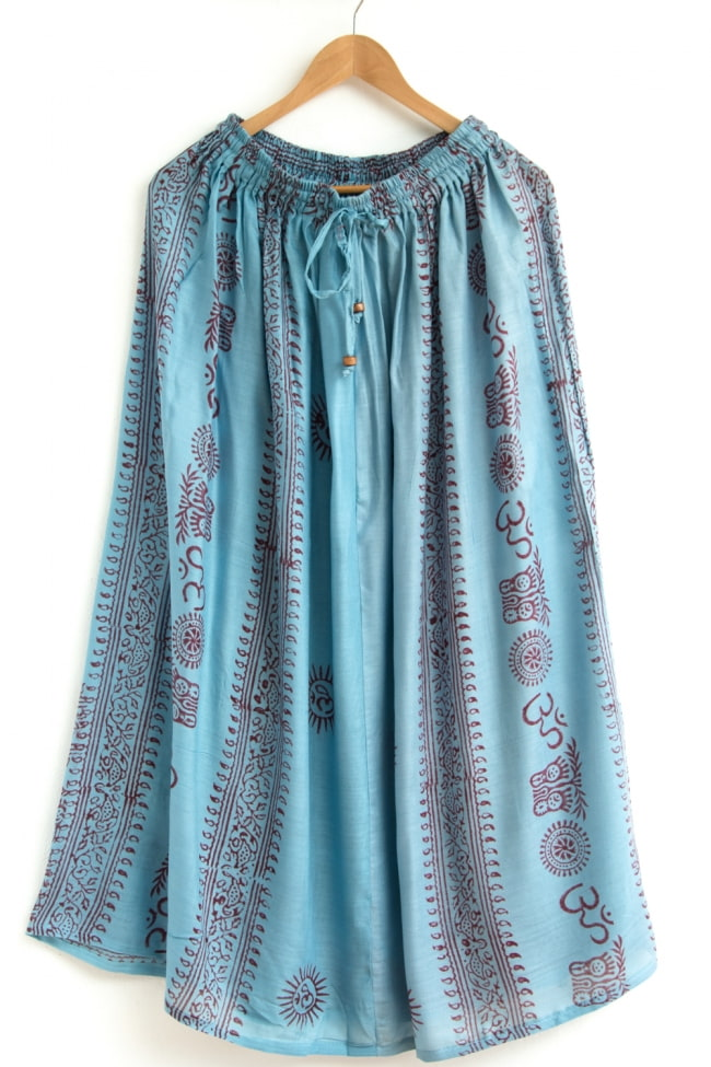 ラムナミフレアースカート 7 - 選択2:ライトブルー