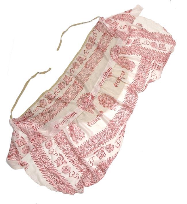 ラムナミフェアリー巻きスカート 白 2 - 2段仕立てで、ふんだんにラムナミを使っています。裾は、緩いカーブを描いてカットされてます。