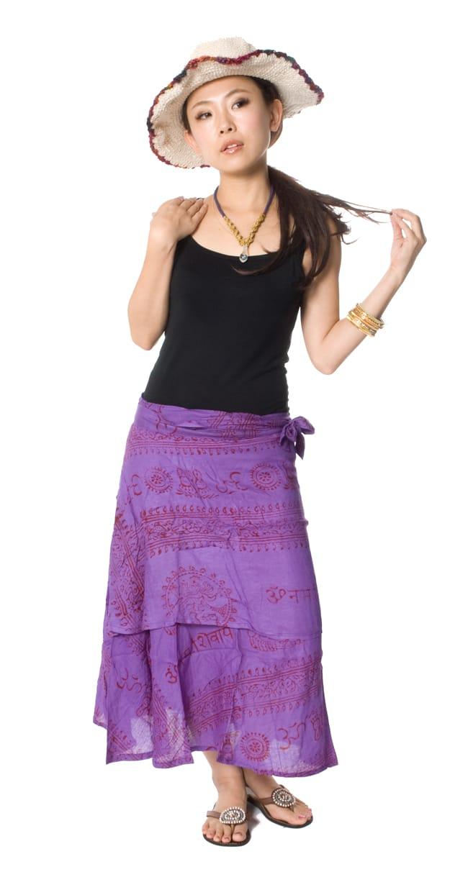 ラムナミフェアリー巻きスカート 7 - 身長150cmのモデルがロングタイプを着用した例です。