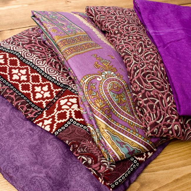20通りの着方ができる魔法のスカート - 紫系アソート 2 - 通常着用する感じにして、平たいところに置いてみました
