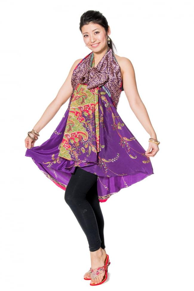 20通りの着方ができる魔法のスカート - 紫系アソート 4 - アソートの内容はこんな感じです。