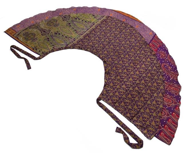 20通りの着方ができる魔法のスカート - 紫系アソート 7 - 完全に平らな感じにしてみました