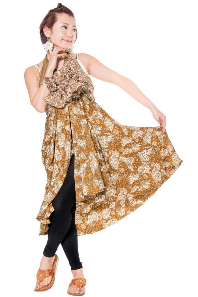 20通りの着方ができる魔法のスカート - パッチワーク 4 - パッチワークなので、ひとつひとつ風合いも異なります。