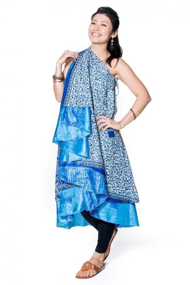 20通りの着方ができる魔法のスカート - パッチワーク 5 - こんな風にロングスカート風に着ても素敵です。