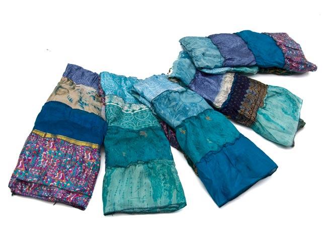 オールドサリーの2WAYスカート【ロング‐青系】 6 - アソートの内容例です。どれも違う柄、色合いです。こちらにあるのは一部の商品なので、こちらに記載されていない色をお届けする場合もございます。ご了承くださいませ。
