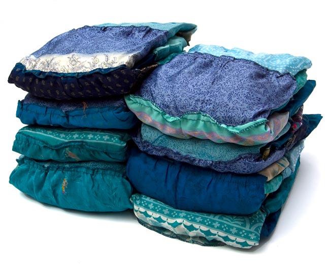 オールドサリーの2WAYスカート【ロング‐青系】 7 - アソートの内容例です。どれも違う柄、色合いです