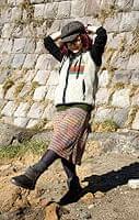 ゲリポケットのリブニットスカートの商品写真