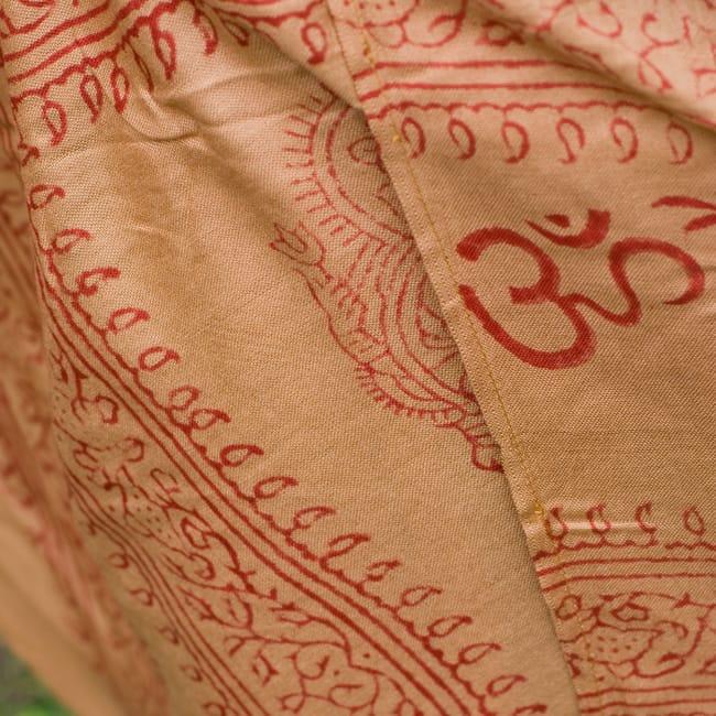 ラムナミフェアリー巻きスカート 薄茶の写真4 - 柄をアップにしてみました。