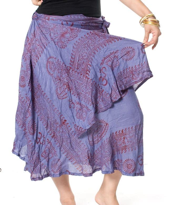 ラムナミフェアリー巻きスカート 薄茶の写真6 - ラムナミのやわらか素材がヒラヒラ着やすいです。