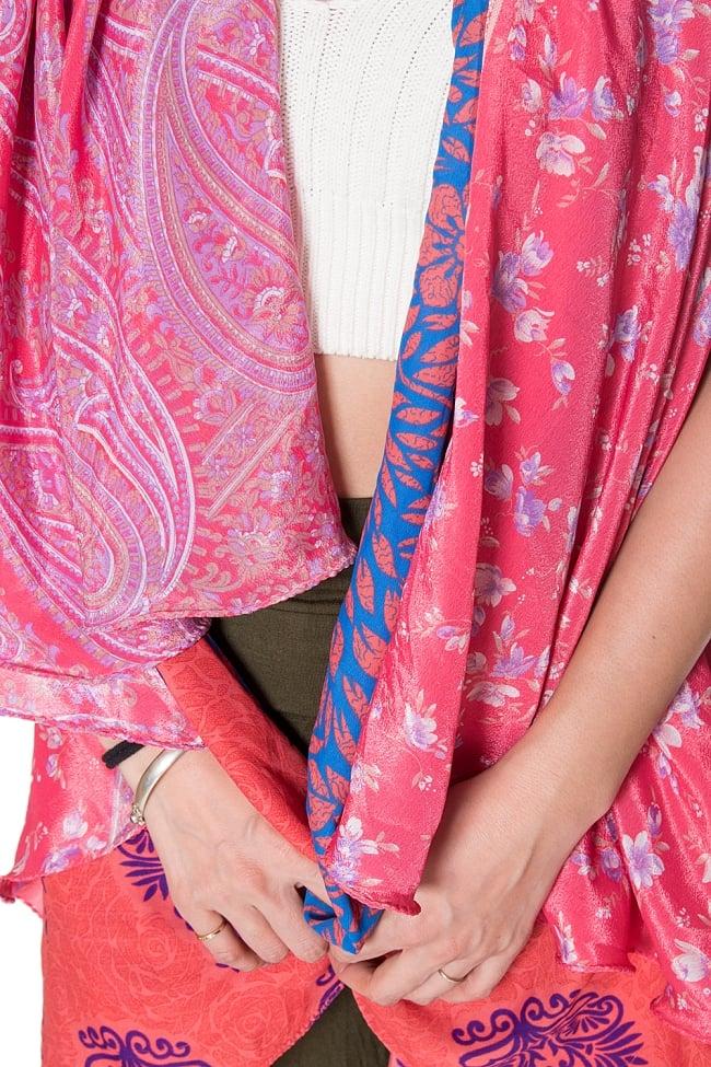 【1点もの】20通りの着方ができる魔法のスカート ピンク系 D 3 - 柄の詳細をみてみました。