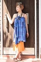 ラムナミフェアリー巻きスカート ブルー