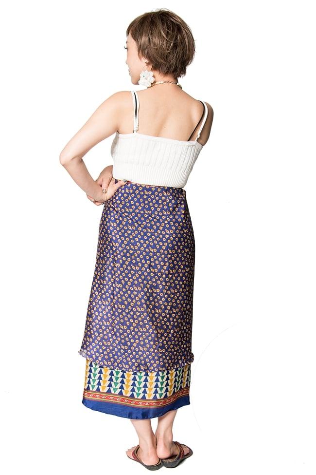 【1点もの】20通りの着方ができる魔法のスカート 青系 2 3 - 柄の詳細をみてみました。