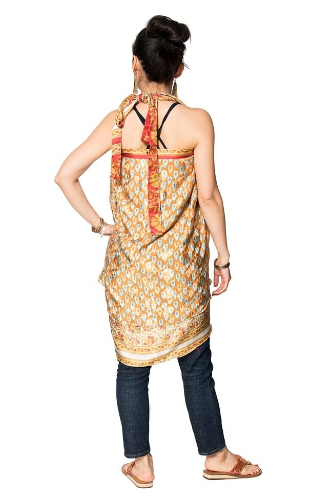 【1点もの】20通りの着方ができる魔法のスカート 黄・オレンジ系 4 3 - 柄の詳細をみてみました。