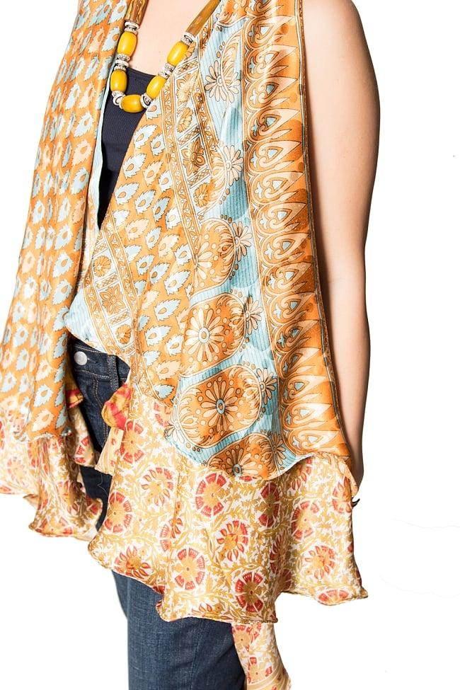 【1点もの】20通りの着方ができる魔法のスカート 黄・オレンジ系 4 4 - 別の箇所をみてみました。
