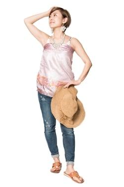 【1点もの】20通りの着方ができる魔法のスカート ピンク系 3