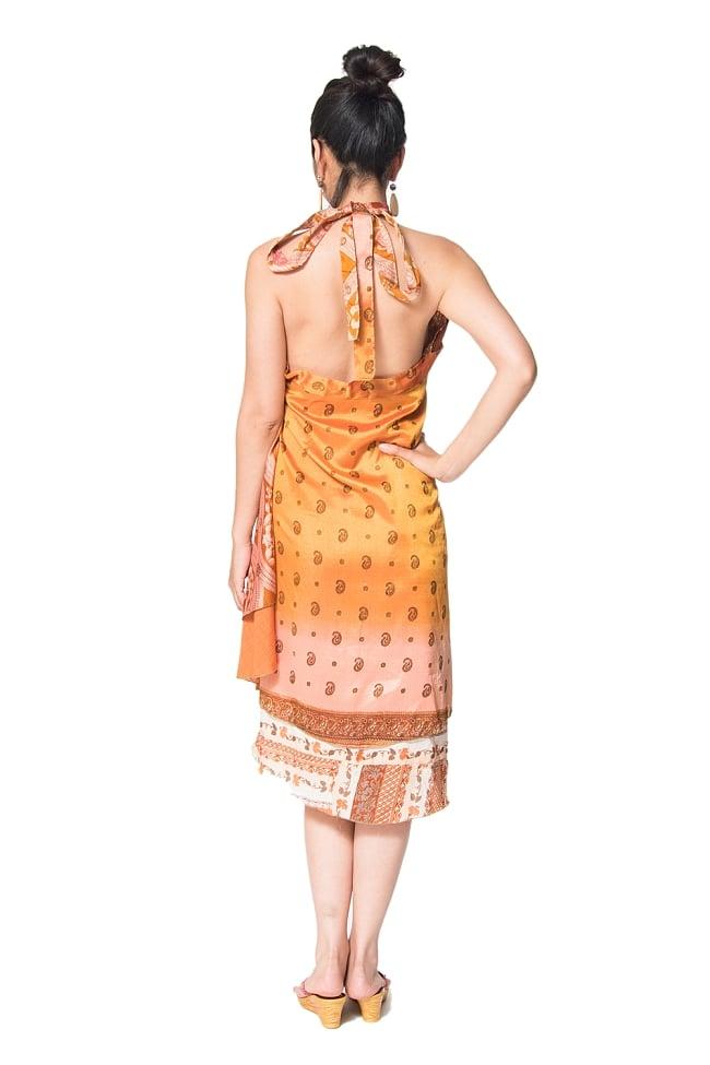 【1点もの】20通りの着方ができる魔法のスカート イエロー・オレンジ系  5 3 - 柄の詳細をみてみました。