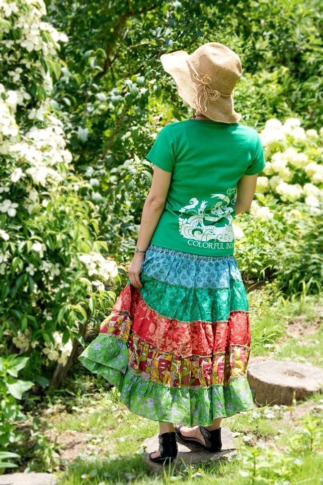 オールドサリーの2WAYスカート【ショート】 4 - Tシャツと合わせてカジュアルに着こなしても♪