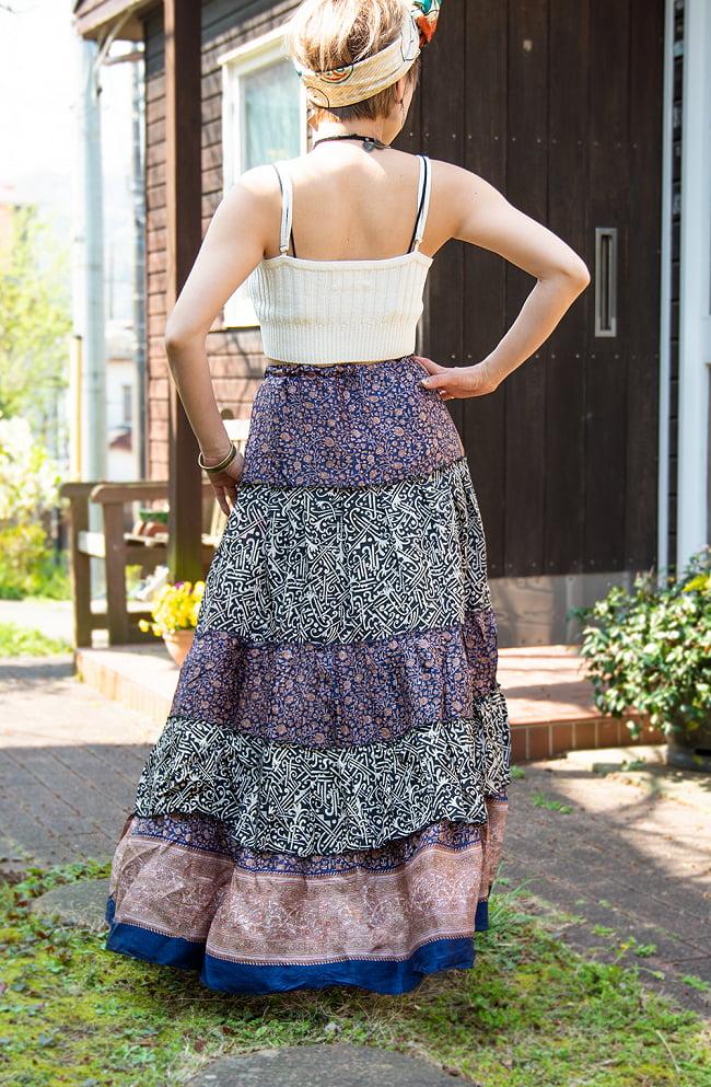 オールドサリーのティアードスカート 5 - 後ろ姿を見てみました。