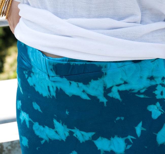 タイダイタイトロングスカート 【ブルー系】 4 - ウエスト部分も切り返しがスッキリした印象です。