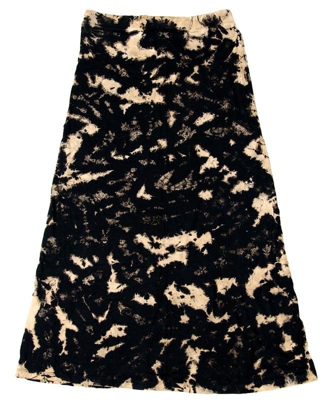 ストレッチで履きやすい! タイダイタイトロングスカート 12 - 選択4:ブラック