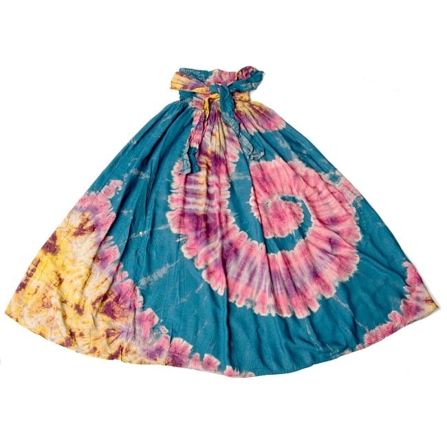4WAYタイダイロングスカート 10 - 選択2:グリーンブルー