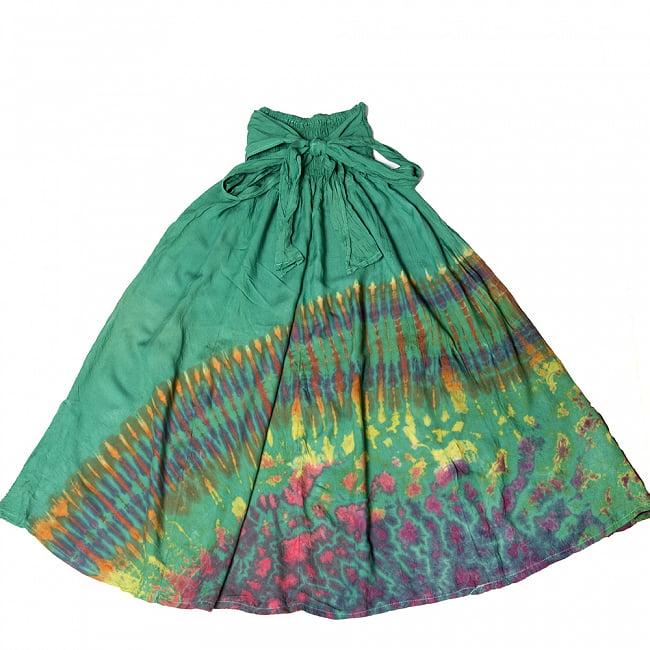 4WAYタイダイロングスカート 11 - 選択3:ハーフグリーン
