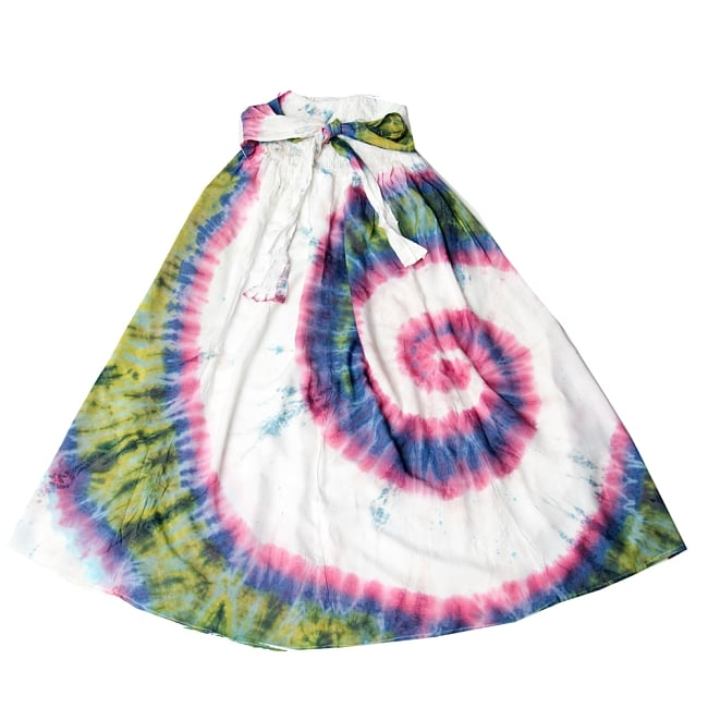 4WAYタイダイロングスカート 14 - 選択6:白×ピンク・ブルー
