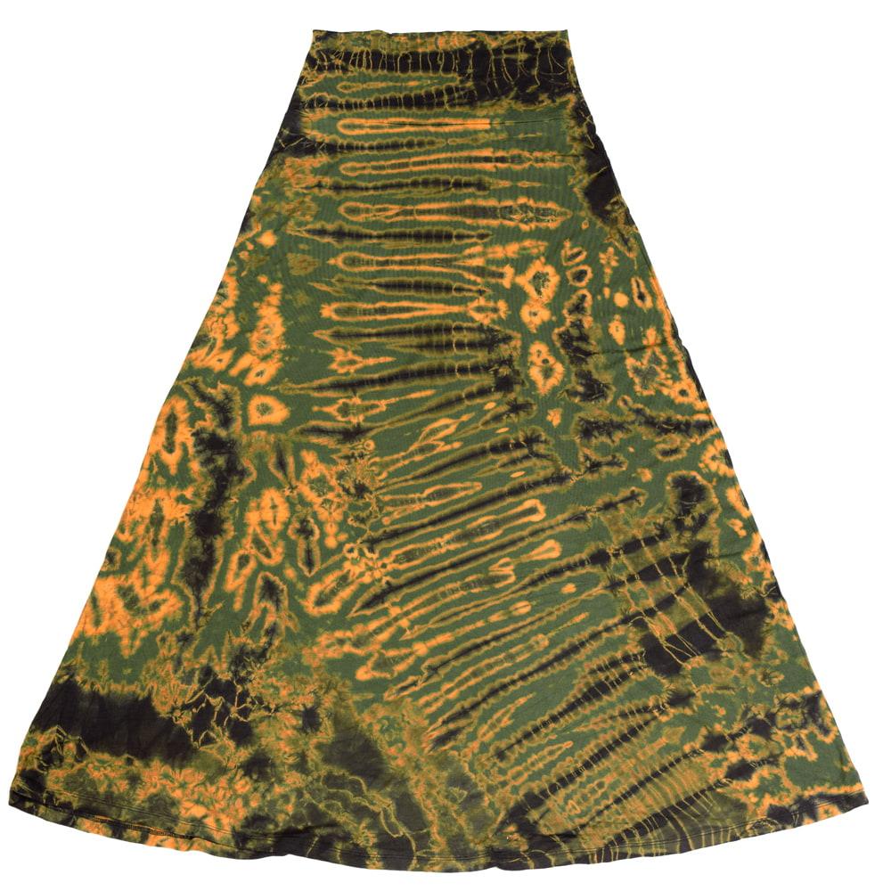 タイダイフレアロングスカート 10 - 選択2:ハーフスカイブルー
