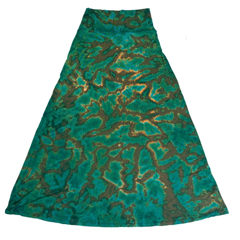 タイダイフレアロングスカート 11 - 選択3:ハーフダークグリーン
