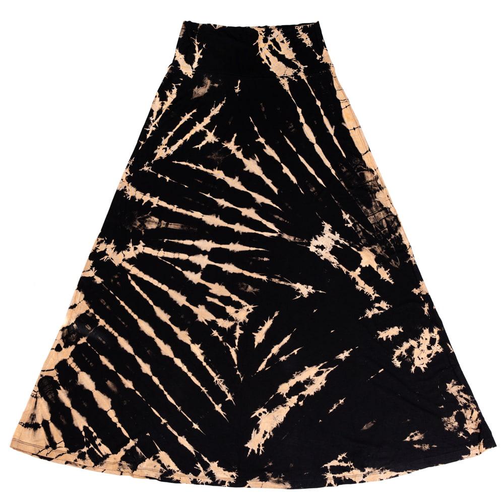 タイダイフレアロングスカート 15 - 選択7:オールブラック