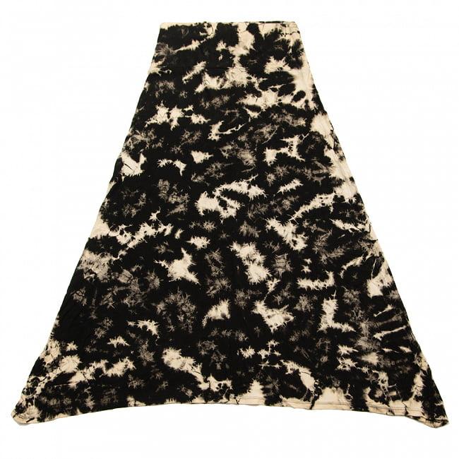 タイダイフレアロングスカート 17 - 9:ダルメシアン・ホワイト:デザインA