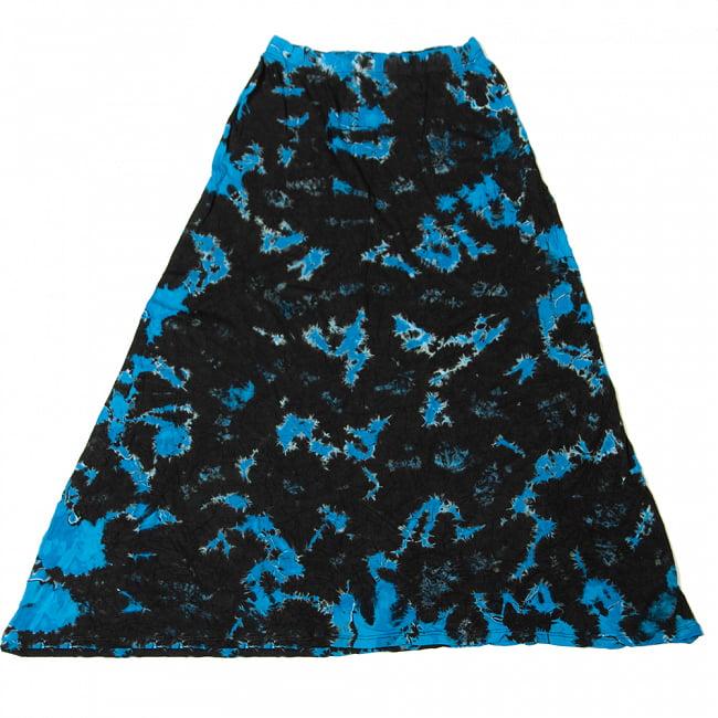 タイダイフレアロングスカート 20 - 12:ブラックブルー(デザインB)