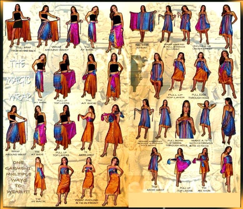 【1点もの】20通りの着方ができる魔法のスカート 黒系 4