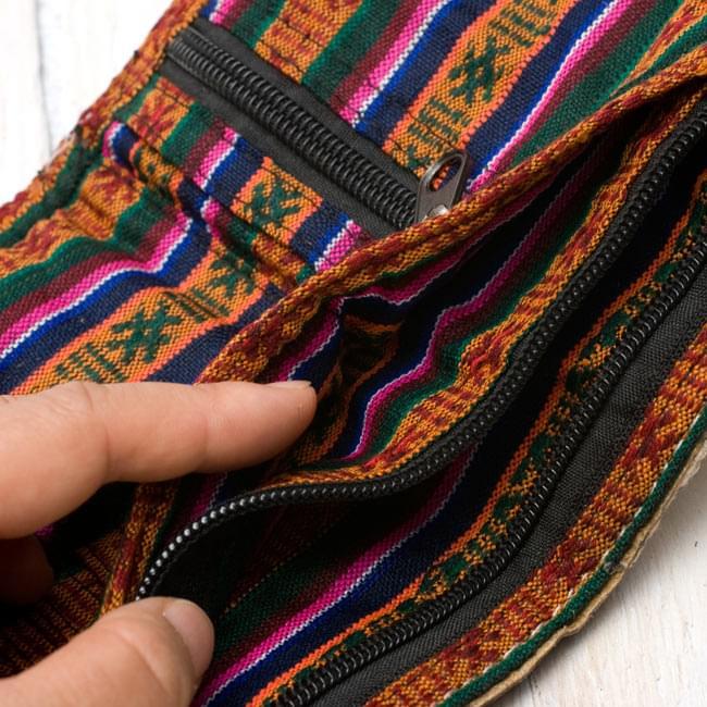 タイダイヘンプのレザーウォレット - ナチュラル 5 - ポケットも沢山あるので、使用しやすいです。