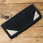 [ワケアリ]ネパールヘンプの長財布 ブラック