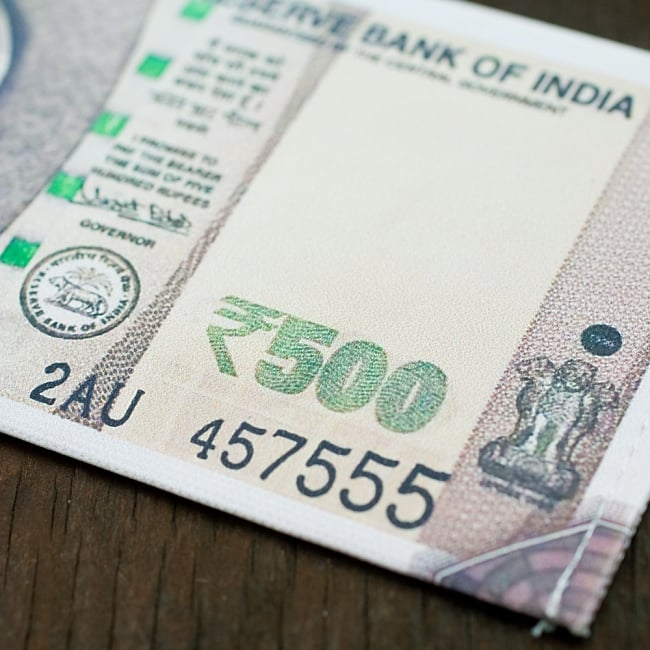 インドルピー札 そのまんま財布【500ルピー】 4 - まるで本物!?細かい所までしっかり真似して作られています^^