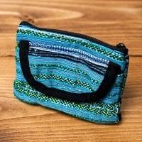 モン族の古布を使ったコインケース[ブルー系]