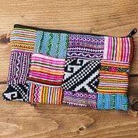 モン族の古布を使ったシンプル長財布 - パッチワーク