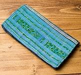 モン族の古布を使ったウォーレット[水色]