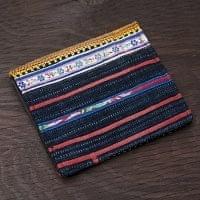 モン族の古布を使った二つ折り財布[暗色]