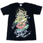 蓮の上で踊る!ダンシングガネーシャ Tシャツの商品写真