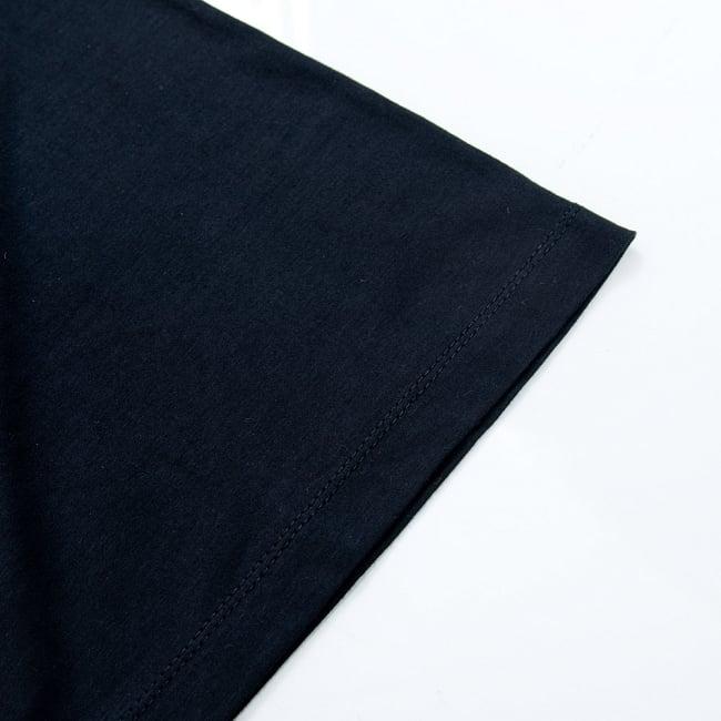 インドの神様!クールなガネーシャTシャツ 5 - 袖口はしっかりと裁縫されています