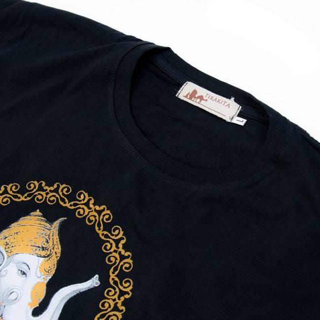 インドの神様!クールなガネーシャTシャツ 6 - 首元もしっかり!