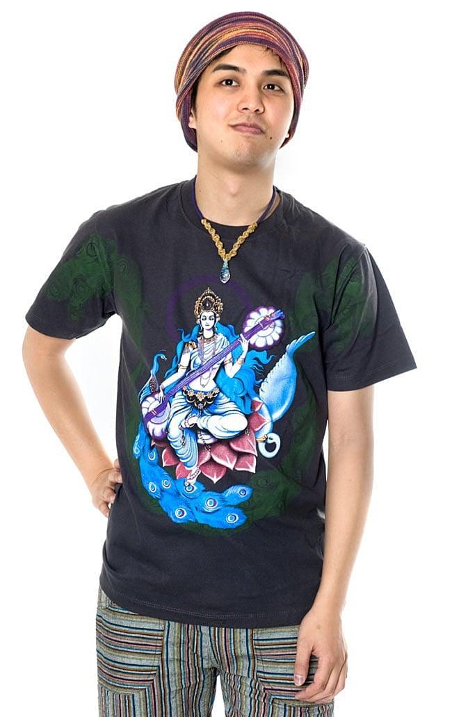 インドの神様!クールなガネーシャTシャツ 9 - 身長150cmのスタッフがSサイズを着てみました。
